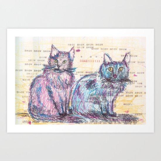 Here kitty, kitty Art Print