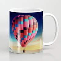 hot air balloons Mugs featuring Hot Air Balloons by EclipseLio