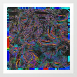 View of Everything Psychedelic Glitch Art Print