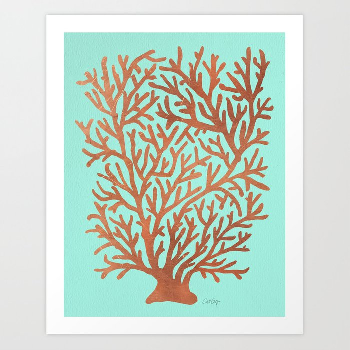 Copper Coral Art Print