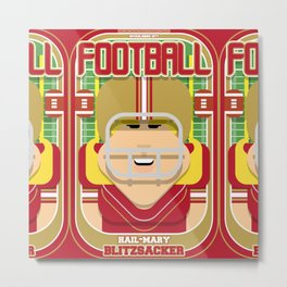 American Football Red and Gold - Hail-Mary Blitzsacker - Hazel version Metal Print