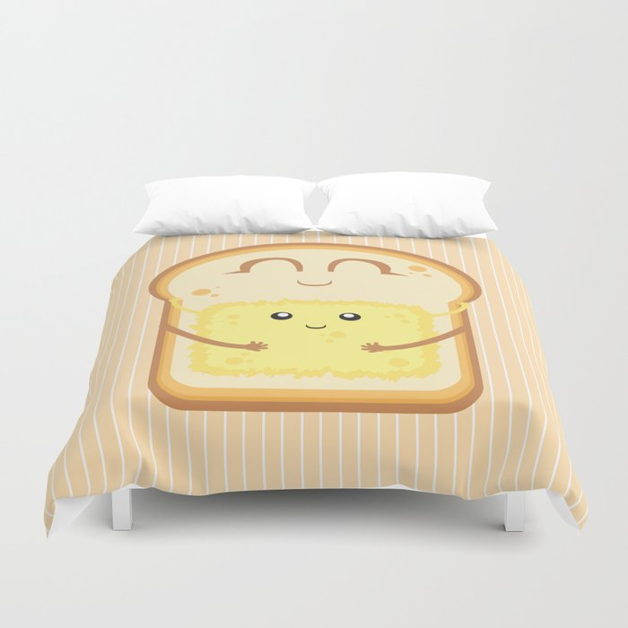 Hug the Butter Duvet Cover