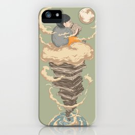 Read me to the moon and back iPhone Case