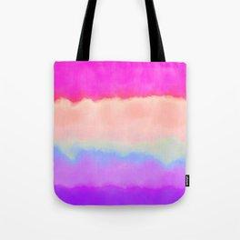 Modern girly pink magenta violet lavender watercolor stripes Tote Bag