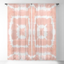 FESTIVAL SUMMER - WILD AND FREE - BLOOMING DAHLIA Sheer Curtain