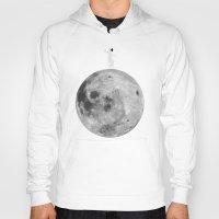 lunar Hoodies featuring Lunar balance by Tony Vazquez