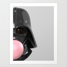 Darth Vader Bubble Gum 02 Art Print