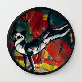 """Franz Marc """"Three Cats (Drei Katzen)"""" Wall Clock"""