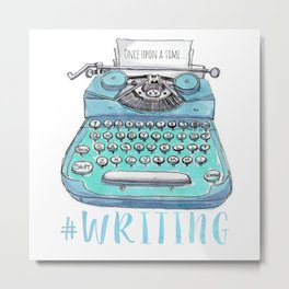 #writing Metal Print
