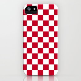 Red and White Check iPhone Case