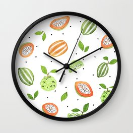 Papaya & Custard Apple Wall Clock