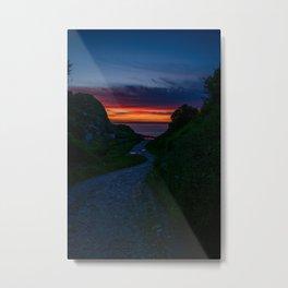 Deep red sunset Metal Print
