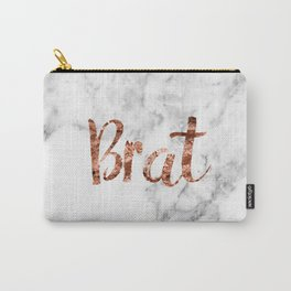 Rose gold marble - brat Carry-All Pouch