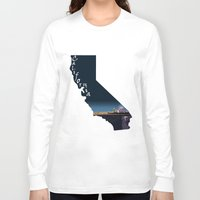 santa monica Long Sleeve T-shirts featuring California: Santa Monica Pier by Brooke Loeffler
