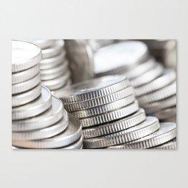 silver coins Canvas Print