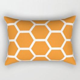 Orange Honeycomb Rectangular Pillow