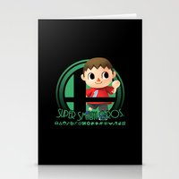 smash bros Stationery Cards featuring Villager - Super Smash Bros. by Donkey Inferno