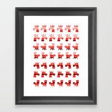 Peppermint Unicorns Framed Art Print
