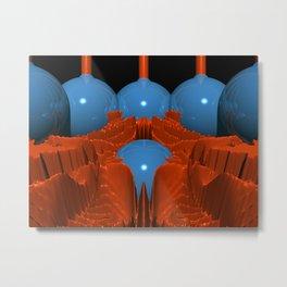 Red Blue Macro Fractal Metal Print