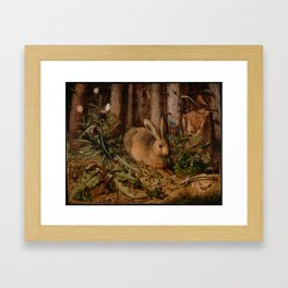 A Hare In The Forest Hans Hoffmann Framed Art Print