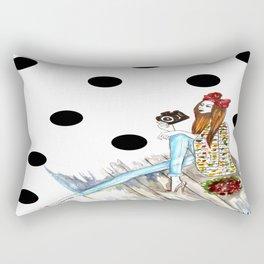 Dots & bow Rectangular Pillow