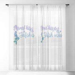 Mermaid Kisses Starfish Wishes Sheer Curtain