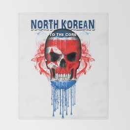 To The Core Collection: North Korea Throw Blanket