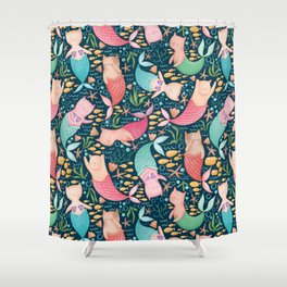 Mercats Galore Pattern Shower Curtain