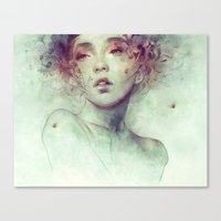 kpop Canvas Prints featuring Swarm by Anna Dittmann