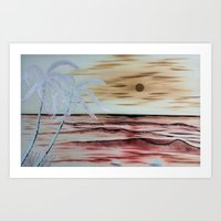 Blue Moon - Negative Art Print