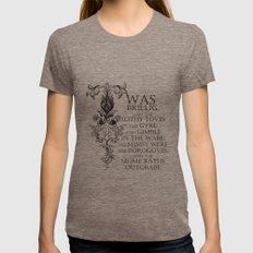 Alice In Wonderland Jabberwocky Poem Womens Fitted Tee Tri-Coffee LARGE