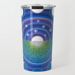 Moon Phase Mandala Travel Mug