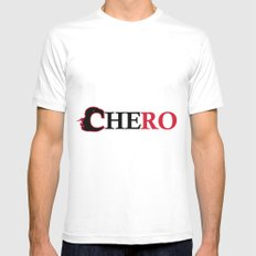 Che ro Mens Fitted Tee White MEDIUM