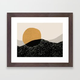 Gold Sun Going Framed Art Print