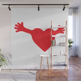 Heart and Hands Wall Mural