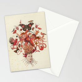 Red Head II Stationery Cards