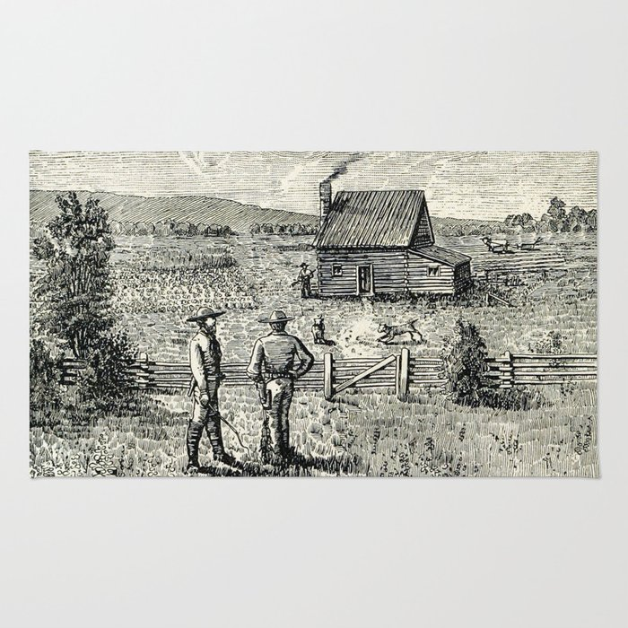Life on the plains and in the Golden state 1888 Rug