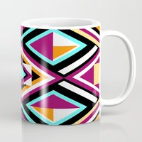 quilt Mugs featuring Quilt Pattern by k_c_s