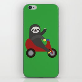 Sloth on Tricycle iPhone Skin