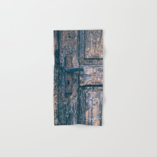 Weathered Wooden Door Hand & Bath Towel