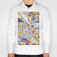 mondrian Hoodies featuring Amsterdam Mondrian by Mondrian Maps