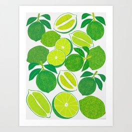 Lime Harvest Art Print