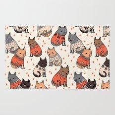 Sweater Cats - by Andrea Lauren Rug