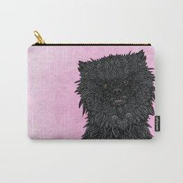 Black Pomeranian Carry-All Pouch