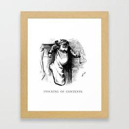 Stocking of Contents - Thomas Nast Framed Art Print