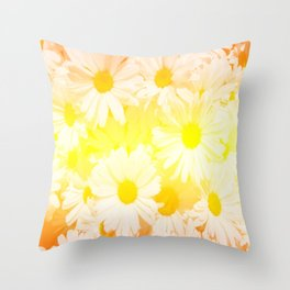Sunshine Daisies Throw Pillow