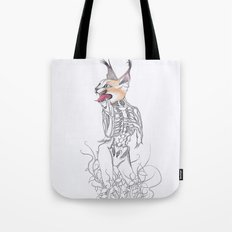 Half Man Half Caracal Tote Bag