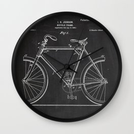 Bicycle Frame Patent Wall Clock