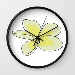 Frangipani Plumeria Flower Wall Clock