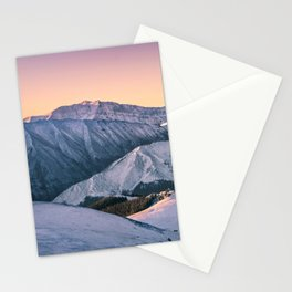 Winter Mountain View Stationery Cards